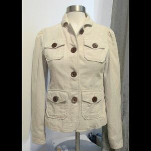Cream Corduroy Jacket
